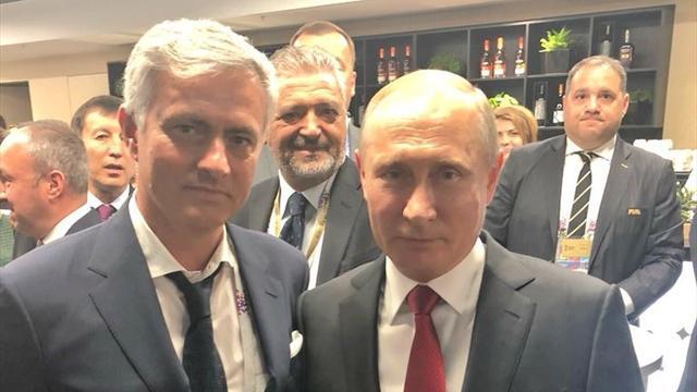 Путин сфотографировался с Моуринью перед матчем Россия – Саудовская Аравия