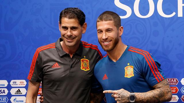 Ramos gives ringing endorsement to new Spain coach Hierro