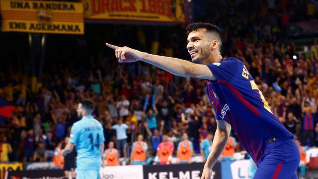 Final LNFS: Espectacular arranque del Barça con dos goles en dos minutos