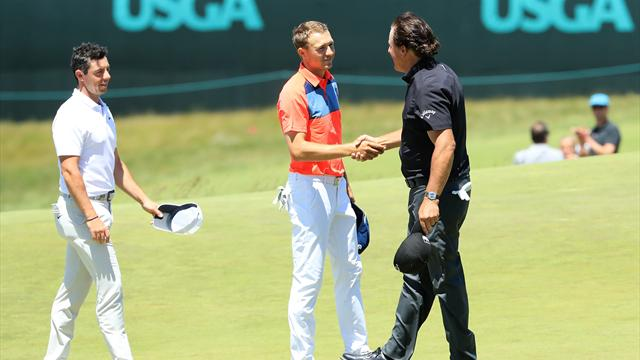Mickelson, Spieth, McIlroy struggle as glamour group fizzles