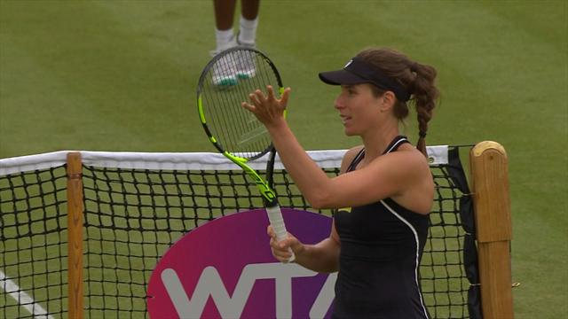 Konta sets up semi-final clash with Vekic in Nottingham