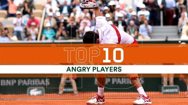 Top 10: da Berrettini a Djokovic, i 10 sfoghi più rabbiosi nel Roland Garros 2018