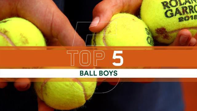 """Roland Garros: la Top 5 degli """"incidenti"""" dei raccattapalle"""