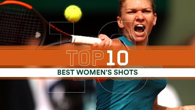 Roland Garros: la top 10 dei colpi del torneo femminile