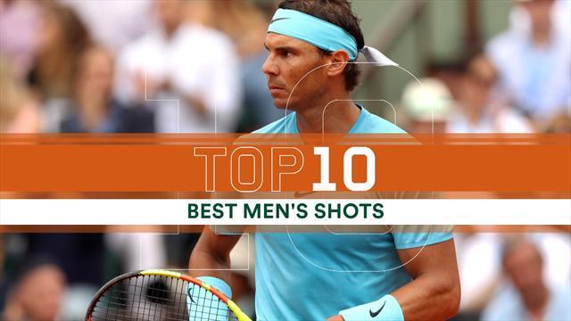Top 10: i colpi più belli del torneo maschile del Roland Garros 2018