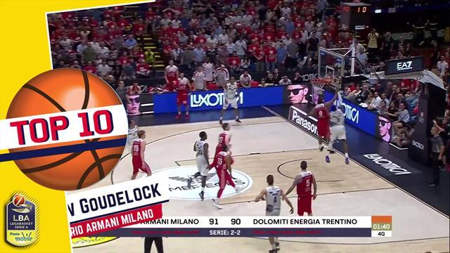"""Top 10: le migliori giocate della finale scudetto, """"Goudeblock""""  vince su tutte"""