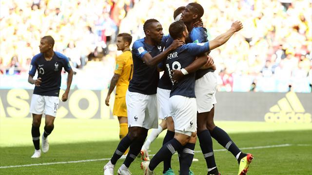 Francia deludente e fortunata: l'Australia si arrende 2-1 a Kazan