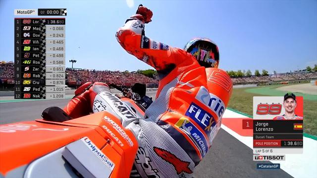 Lorenzo un souffle devant Marquez : revivez son tour pour la pole