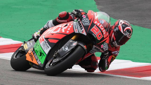 Moto2: Sorpresa Quartararo in pole position, 4° tempo per Bagnaia, 6° crono per Pasini