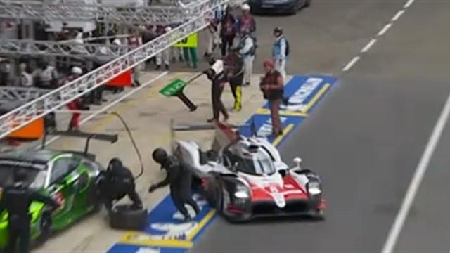 17h30 : Fernando Alonso prend son relais... et évite de peu un mécanicien