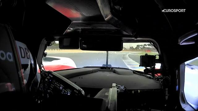 Así es una vuelta a Le Mans desde el Toyota de Alonso