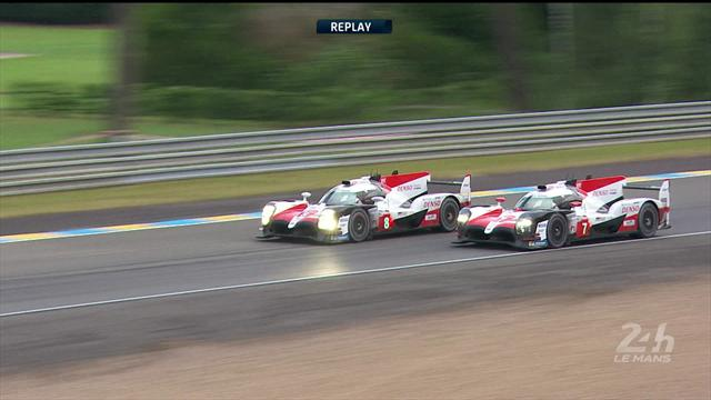 The moment Toyota 8 took the lead at Le Mans