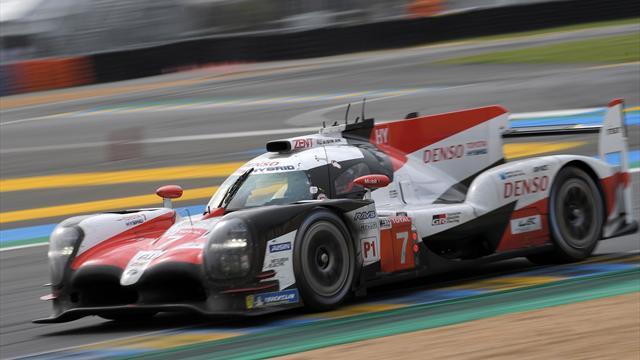 Au ralenti pendant un demi-tour, la Toyota n°7 se fait une sacrée frayeur !