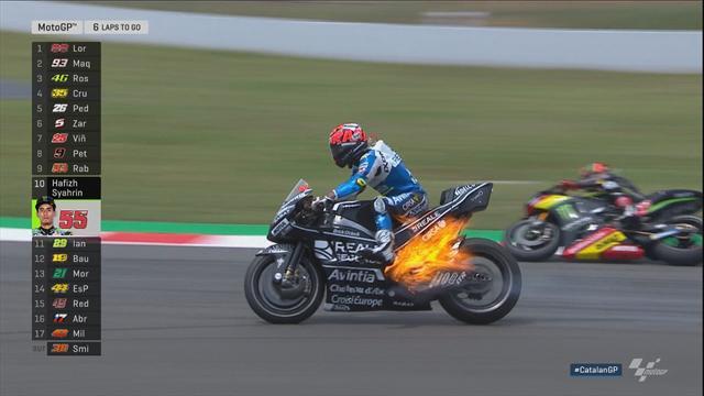 Es wird brenzlig: Rabats Bike im Flammen