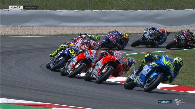 Highlights: Lorenzo souverän, Rossi pirscht sich heran