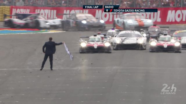 Watch the moment that Toyota and Alonso won Le Mans 24 Hours