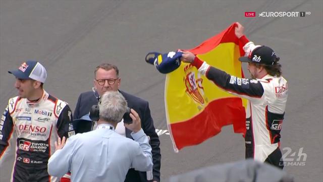 Jubel ohne Ende: Alonso und Toyota feiern in Le Mans