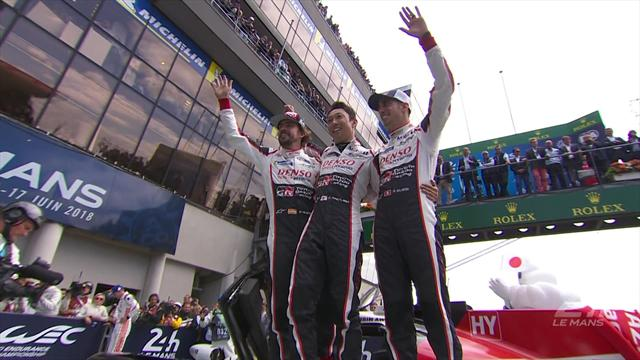 Alonso, Buemi and Nakajima celebrate in style after Le Mans victory