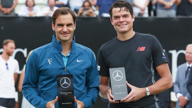 Federer maîtrise Raonic pour son 98e titre