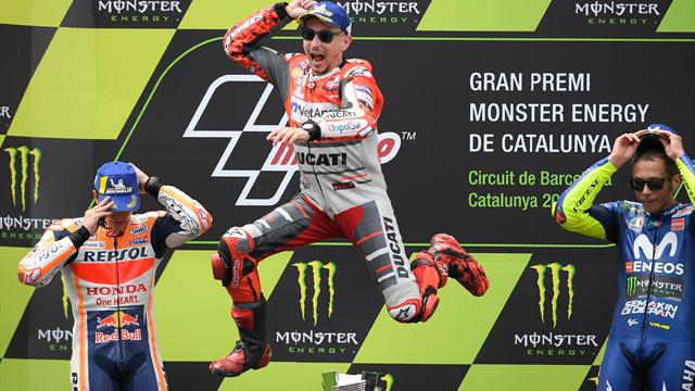 Lorenzo wins second race in a row for Ducati