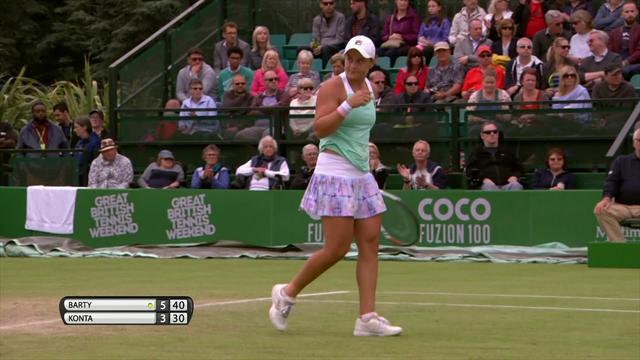WTA Nottingham: Ashleigh Barty - Johanna Konta (Özet)