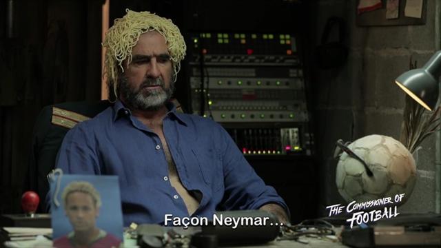 """Pour le Commissioner Cantona, la """"coupe spaghetti"""" de Neymar est un hommage à la Squadra"""
