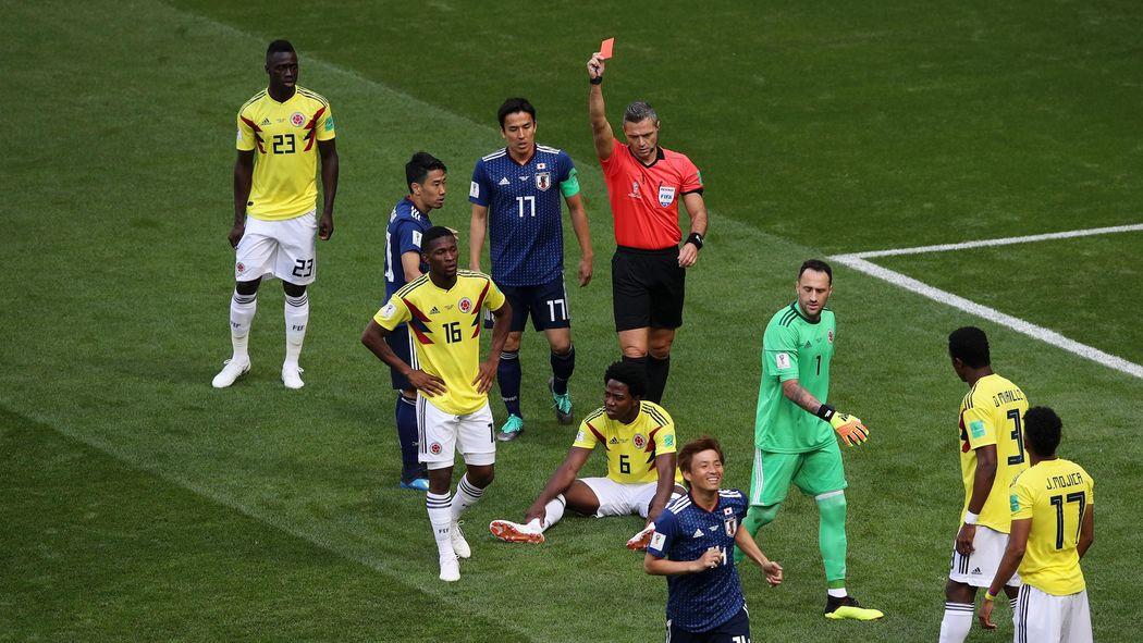 Rote Karte Wm 2018.Wm 2018 Kolumbianer Carlos Sanchez Mit Zweitschnellstem