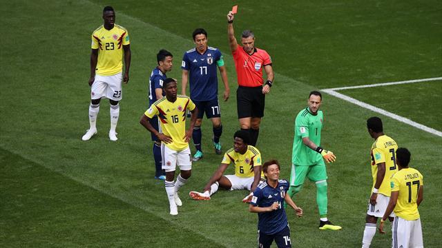 Sanchez a reçu le premier carton rouge du Mondial... un des plus rapides de l'histoire