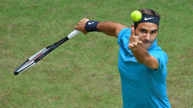 """""""Rasenkönig"""" Federer feiert lockeren Auftakt"""