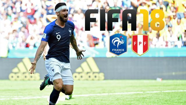 Giroud va faire le plus grand bien aux Bleus contre le Pérou (c'est FIFA 18 qui le dit)
