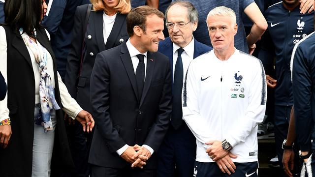 """Macron salue """"l'enthousiasme"""" des Français autour des Bleus"""