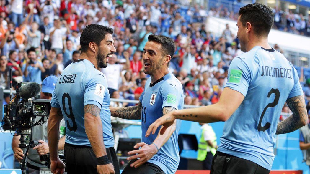 a82a3e8eb Luis Suarez and Edinson Cavani lead Uruguay attack against Russia ...