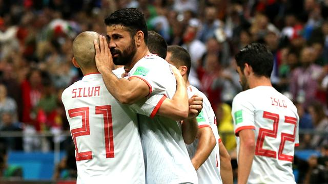 Spain's Costa furious with Iran's play-acting and time-wasting tactics