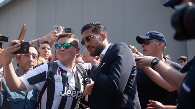 L'arrivo di Emre Can al J-Medical per le visite mediche con la Juventus