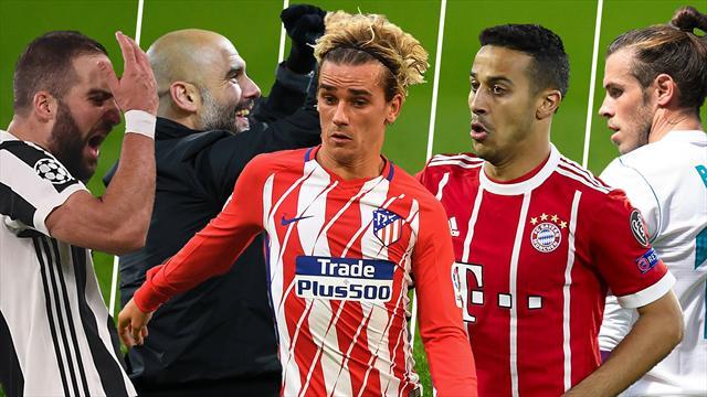 Higuaín, Guardiola, Griezmann, Thiago y Bale, los nombres del día