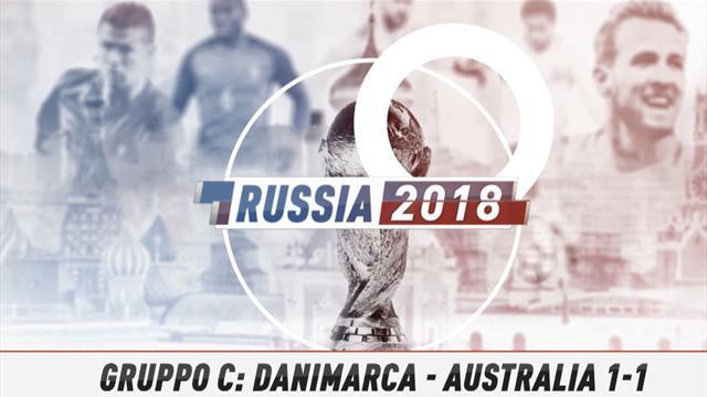 Fast match Report: Danimarca-Australia 1-1 in 60 secondi