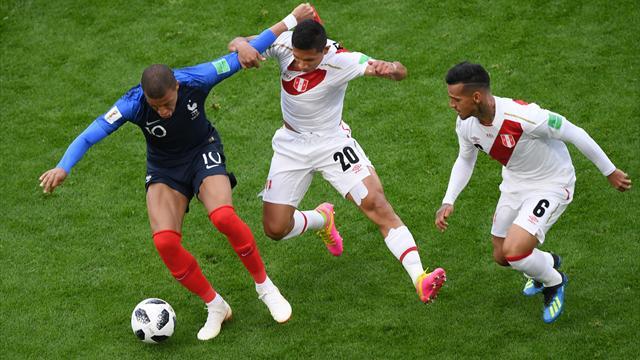 Le pagelle di Francia-Perù 1-0: Kanté ovunque, Mbappé letale, Guerrero isolato