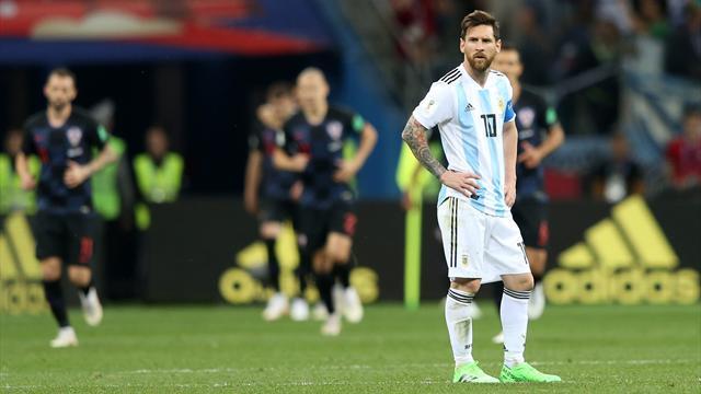 Crollo verticale dell'Argentina: 3-0 Croazia, Messi & co. a un passo dall'eliminazione