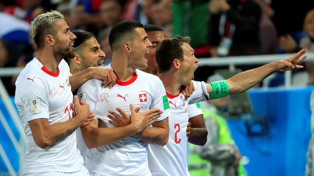 Xhaka e Shaqiri, rimonta e (doppia) beffa alla Serbia: la Svizzera vince 2-1