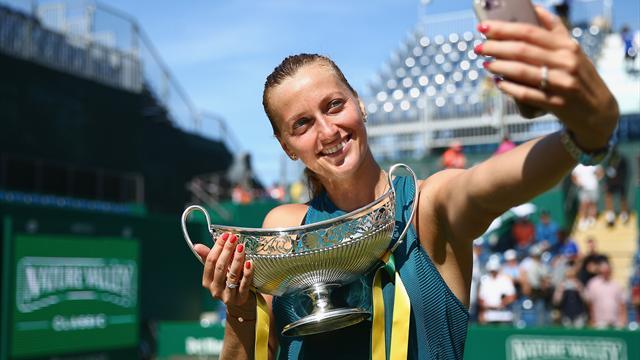 Kvitova recovers to beat Rybarikova and triumph in Edgbaston