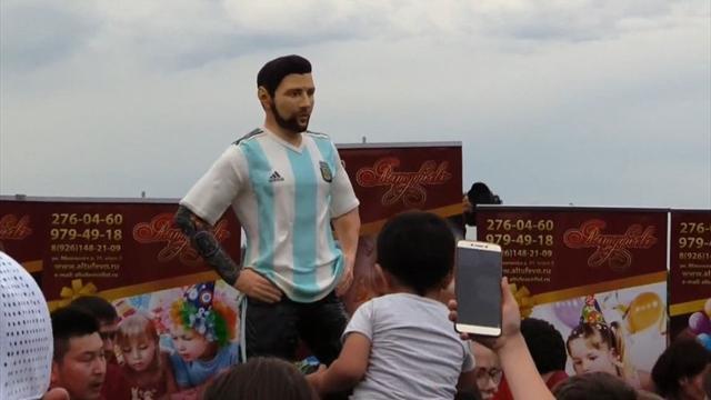 Mundial Rusia 2018: Una tarta con una réplica gigante de Messi para celebrar su 31 cumpleaños