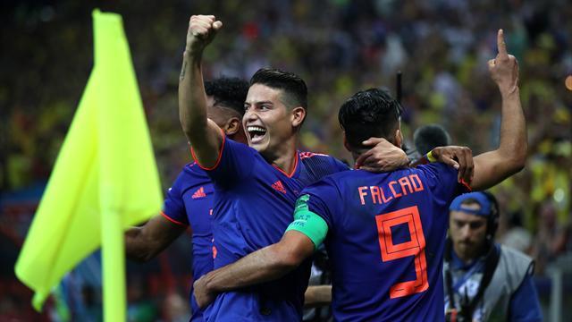 Deux passes de James Rodriguez, le premier but de Falcao : tout roule pour la Colombie