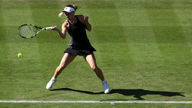 Wozniacki progresses as Watson falls at Eastbourne