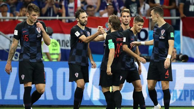 """La Croazia spegne i sogni dell'Islanda con un 2-1 firmato dagli """"italiani"""" Badelj e Perisic"""