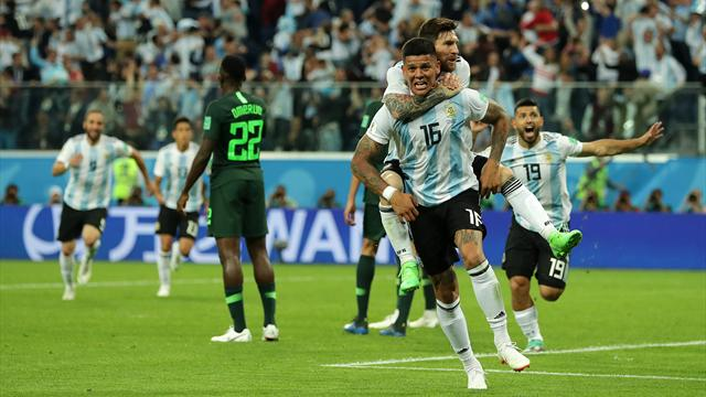 Ekstase in Weiß-Himmelblau: Rojo schießt Argentinien ins Achtelfinale