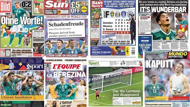 """""""Katastrophales Deutschland"""": Pressestimmen zum deutschen WM-Aus"""