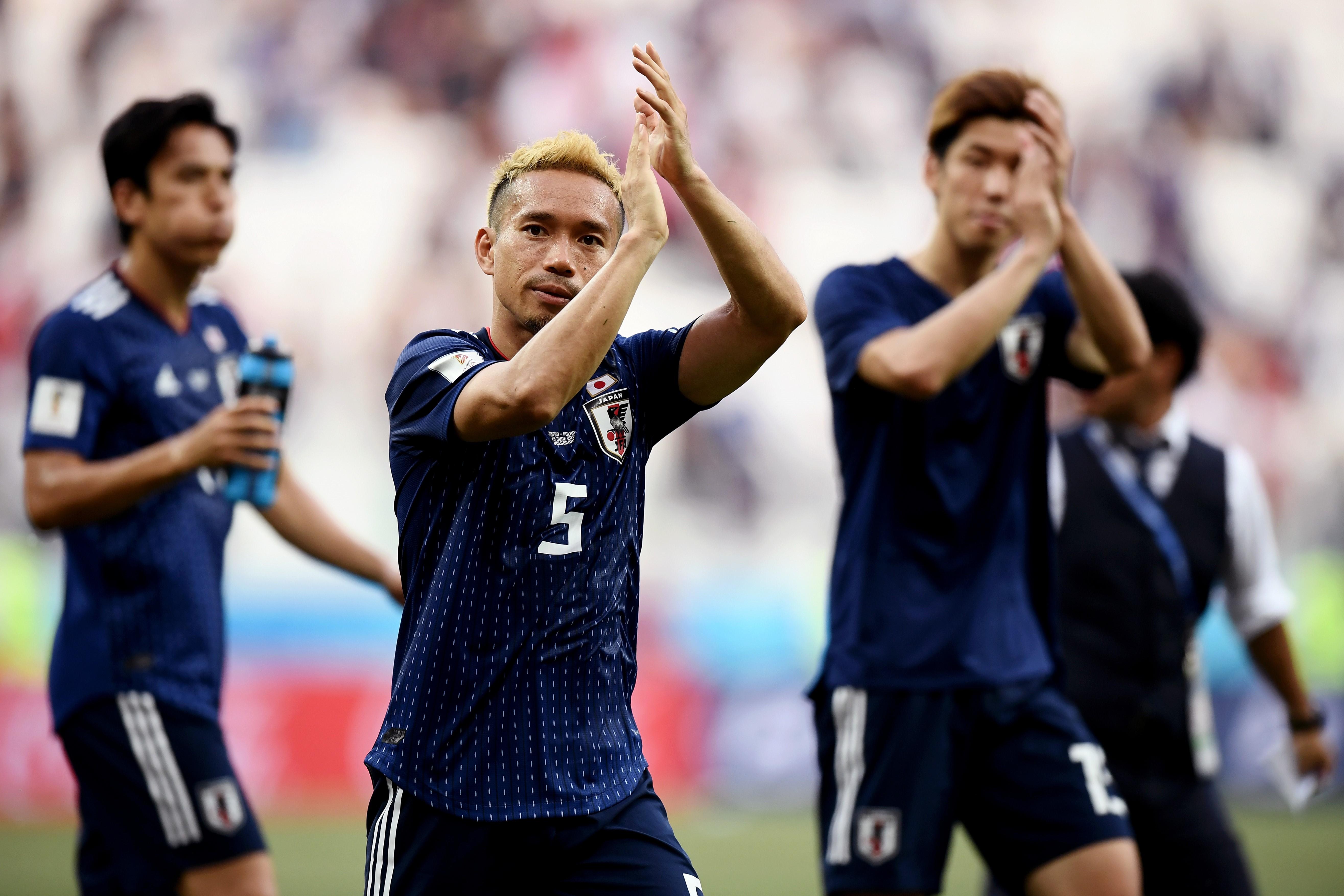 Японцы благодарят болельщиков