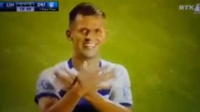 Игрок косоварского клуба положил дубль в Лиге чемпионов и повторил жест Джаки и Шачири