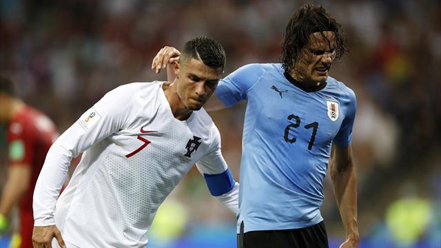 Le pagelle di Uruguay-Portogallo 2-1: Cavani bestiale, Cristiano Ronaldo è il grande assente