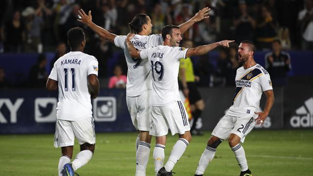 Höjdpunkter: Zlatan målskytt i LA Galaxys kross